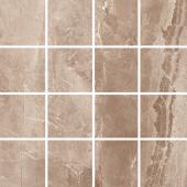 Мозаика керамическая полированная MARBLES MALLA KASHMIR Taupe (7х7) 30x30 см