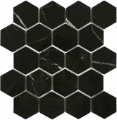 BODE Marrone oriente Hexagon мозаика полированная 26,7x30,8 см керамогранит