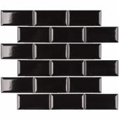 Керамическая мозаика Metro Black Glossy 45х95 мм (AM84445) 288х294х6,5