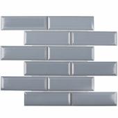 Керамическая мозаика Metro Bluish-Grey Glossy 45х145 (KM41843) 287х295х6,5