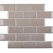 Керамическая мозаика Metro Grey Glossy 45х95 мм (AM81946) 291х295х6
