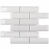 Керамическая мозаика Metro White Glossy 45х145 (KM82895) 287х295х6,5