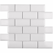 Керамическая мозаика Metro White Glossy 45х95 мм (AM81945) 288х294х6,5