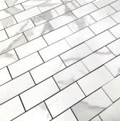 BODE Calacatta POL мозаика полированная 48*98 мм лист 29,8*29,8 см керамогранит