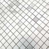 BODE Calacatta POL мозаика полированная 48*48 мм лист 29,8*29,8 см керамогранит