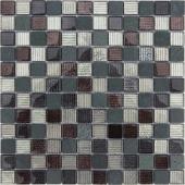 Мозаика Naturelle - Alcantara Nero 29,8x29,8х0,8 см (чип 23х23х8 мм)