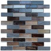 Мозаика Naturelle - Alcantara Nero 26x29,8х0,8 см (чип 23х73х8 мм)
