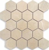BODE Nuvola beige Hexagon мозаика полированная 26,7x30,8 см керамогранит