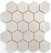 BODE Nuvola grigio Hexagon мозаика полированная 26,7x30,8 см керамогранит