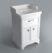 Тумба POMPEI под умывальник напольная 60 см, 1 ящик, 2 дверцы, белая