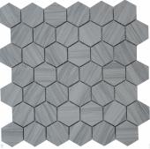 Marmara grey POL hex 23x40x8 мм (лист 292x298x8 мм)