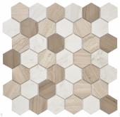 Pietra Mix 3 Mat hex 18x30x6 мм (лист 295x305x6 мм)