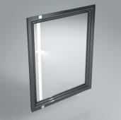 Зеркало POMPEI 60 см черное