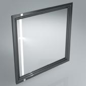 Зеркало POMPEI 80 см черное