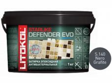 Затирка эпоксидная Litokol Starlike Defender Evo S.140 Nero Grafito