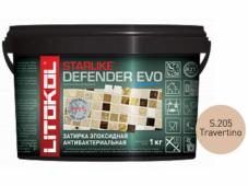 Затирка эпоксидная Litokol Starlike Defender Evo S.205 Travertino