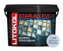 Starlike Evo S.300 Azzurro Pastello 5 кг эпоксидная затирка