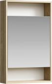 Сити Шкаф-зеркало 50 см, цвет дуб балтийский, SIT0405DB 50*80*15