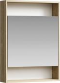 Сити Шкаф-зеркало 60 см , цвет дуб балтийский, SIT0406DB 60*80*15