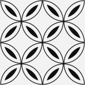 Керамогранит CERSANIT Stream лепестки белый 29,8x29,8 SM4A055