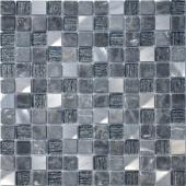 Мозаика Black Velvet 29,8х29,8x0,4 см (чип 23х23х4 мм)