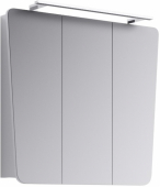 Simphony шкаф-зеркало со светильником, цвет белый, Sim.04.08/W, 79,5*71*17