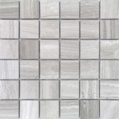 Мозаика LeeDo Pietrine Travertino Silver матовая 30,5x30,5x0,7 см (чип 48x48x7 мм)