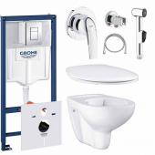 Готовый набор для туалета GROHE Bau Ceramic с панелью смыва Skate Cosmopolitan (NW0009)