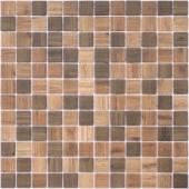 Мозаика Wood Dark Blend (на сетке)