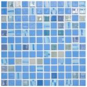 Мозаика Astra Blue Голубой (на сетке)