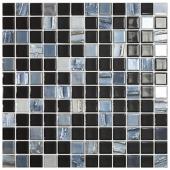 Мозаика Astra Black Черный (на сетке)