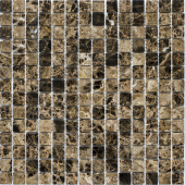 Мозаика 20X20 Dark Emperador Polished (JMST023) 305X305X4, натур. мрамор