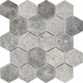 Мозаика Hexagon VLg Tumbled 64X74 (305X305X8), натур. мрамор