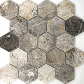 Мозаика Hexagon VLgP 64X74 (305X305X8), натур. мрамор