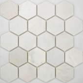 Мозаика Hexagon VMw Tumbled 64X74 (305X305X8), натур. мрамор