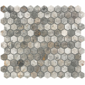 Мозаика Hexagon VLgP 23X23 (300X300X8), натур. мрамор