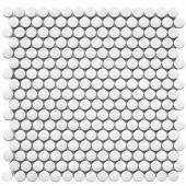 Кер. мозаика Penny Round White Matt (NK41000) 315х309х6