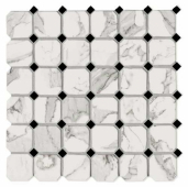 Мозаика керамическая G2040401 CALACATTA VI.OTTAGONA (5х5) 30х30 см
