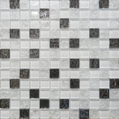 Мозаика стеклянная AltaCera Touch Glass White Mosaic 30x30