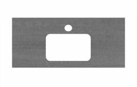 Спец. декоративное изделие для раковин, встраиваемых сверху, 100 см Про Дабл антрацит