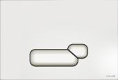 Кнопка ACTIS, стекло, белая глянцевая