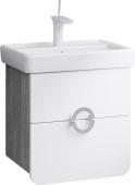 Аликанте тумба с умывальником подвесная с ящиками, цвет дуб седой, две части (Alic.01.05/Gray), 49,5*51*35,5