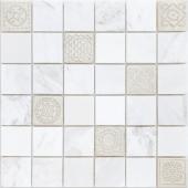 Мозаика LeeDo Art Dolomiti bianco матовая 30х30х0,8 см (чип 48х48х8 мм)