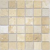 Мозаика LeeDo Art Travertino beige матовая 30х30х0,8 см (чип 48х48х8 мм)