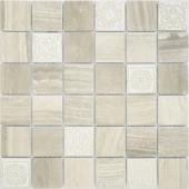 Мозаика LeeDo Art Travertino silver матовая 30х30х0,8 см (чип 48х48х8 мм)