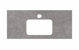 Спец. декоративное изделие для раковин, встраиваемых сверху, 100 см Фондамента серый