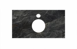 Спец. декоративное изделие для накладных раковин 80 см Риальто темный серый лаппатированный