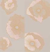 Панно Mono Golden flowers 60х60 (компл. из 2 шт)