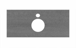 Спец. декоративное изделие для накладных раковин 100 см Про Дабл антрацит