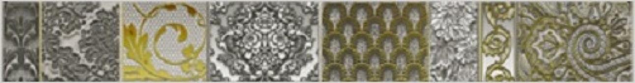 Бордюр настенный Lst. Diana Grigio 1C 50,5*6,2